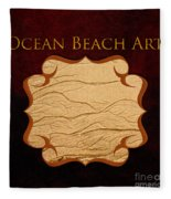 Ocean Beach Art Gallery Fleece Blanket