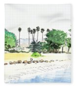 Ocean Beach Fleece Blanket