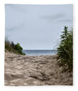 Ocean City Beach Fleece Blanket