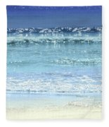 Ocean Colors Abstract Fleece Blanket