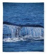 Ocean Dive Of The Humpback Whale Fleece Blanket
