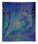 Ocean Flow Energy Fleece Blanket