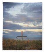 Ocean Grove Nj Beach Cross Fleece Blanket