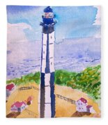Ocean Lighthouse Fleece Blanket