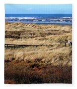 Ocean Shores Boardwalk Fleece Blanket