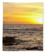 Ocean Sunset Fleece Blanket