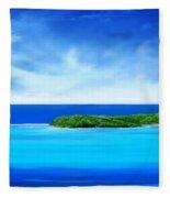 Ocean Tropical Island Fleece Blanket