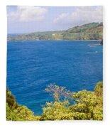 Ocean View From The Road To Hana, Maui Fleece Blanket