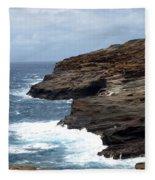 Ocean Vs. Rock Fleece Blanket