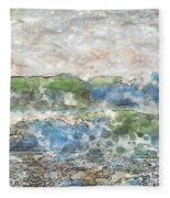 Ocean Waves Fleece Blanket