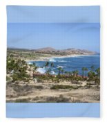 Oceanfront Relaxation Fleece Blanket