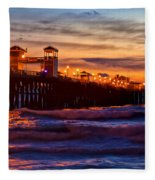 Oceanside Sunset IIi Fleece Blanket