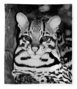 Ocelot In Repose Fleece Blanket