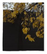 Ochre And Umber Fleece Blanket