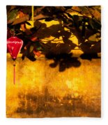 Ochre Wall Silk Lantern 01 Fleece Blanket