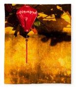 Ochre Wall Silk Lantern 03  Fleece Blanket