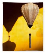 Ochre Wall Silk Lanterns  Fleece Blanket