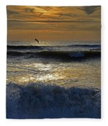 Ocracoke Morning Fleece Blanket