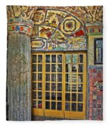 October At Fonthill Castle Fleece Blanket