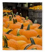 October At The Farm - Pumpkins Fleece Blanket