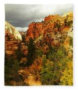 October In Zion Fleece Blanket