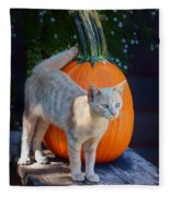 October Kitten #1 Fleece Blanket