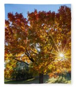 October Maple  Fleece Blanket