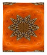 October Pattern Fleece Blanket