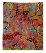 Octopus Illistration Fleece Blanket