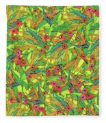 Odd Birds Of Paradise Fleece Blanket