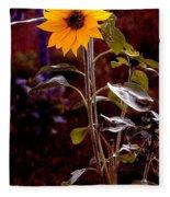 Ode To Sunflowers Fleece Blanket