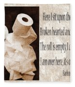 Ode To The Spare Roll Sepia 2 Fleece Blanket