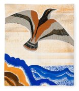 Odyssey Illustration  Bird Of Potent Fleece Blanket