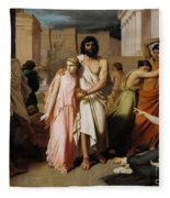 Oedipus And Antigone Or The Plague Of Thebes  Fleece Blanket