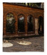 Of Courtyards And Elegant Arches  Fleece Blanket