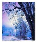 Of Dreams And Winter Fleece Blanket
