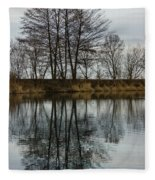 Of Mirrors And Trees Fleece Blanket