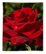 Of Red Roses And Diamonds  Fleece Blanket