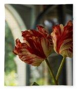 Of Tulips And Windows Fleece Blanket
