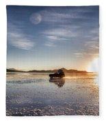 Off Road Uyuni Salt Flat Tour Dramatic Fleece Blanket