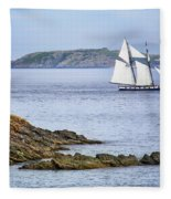 Off Saint-malo Fleece Blanket