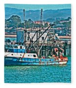 Off Shore Fishing Fleece Blanket