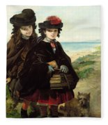 Off To School, 1860 Fleece Blanket