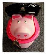 Officer Bacon Wants A Doughnut Fleece Blanket
