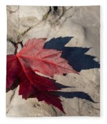 Oh Canada Maple Leaf Fleece Blanket