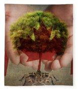 Oh Canada  Fleece Blanket