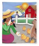 Oh Chick Fleece Blanket