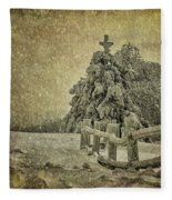 Oh Christmas Tree In Snow Fleece Blanket