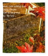 Oh How I Love Autumn With Poetry Fleece Blanket