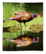 Oh My What A Handsome Pheasant Fleece Blanket